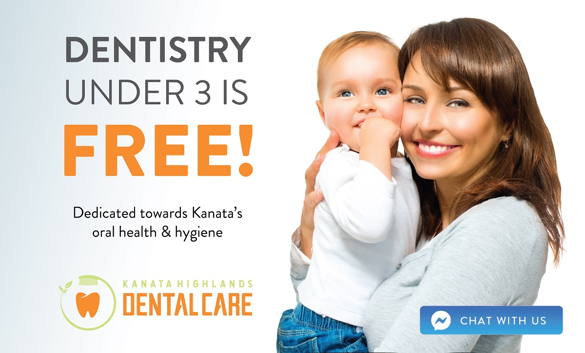 Dentistry Under 3 is FREE!